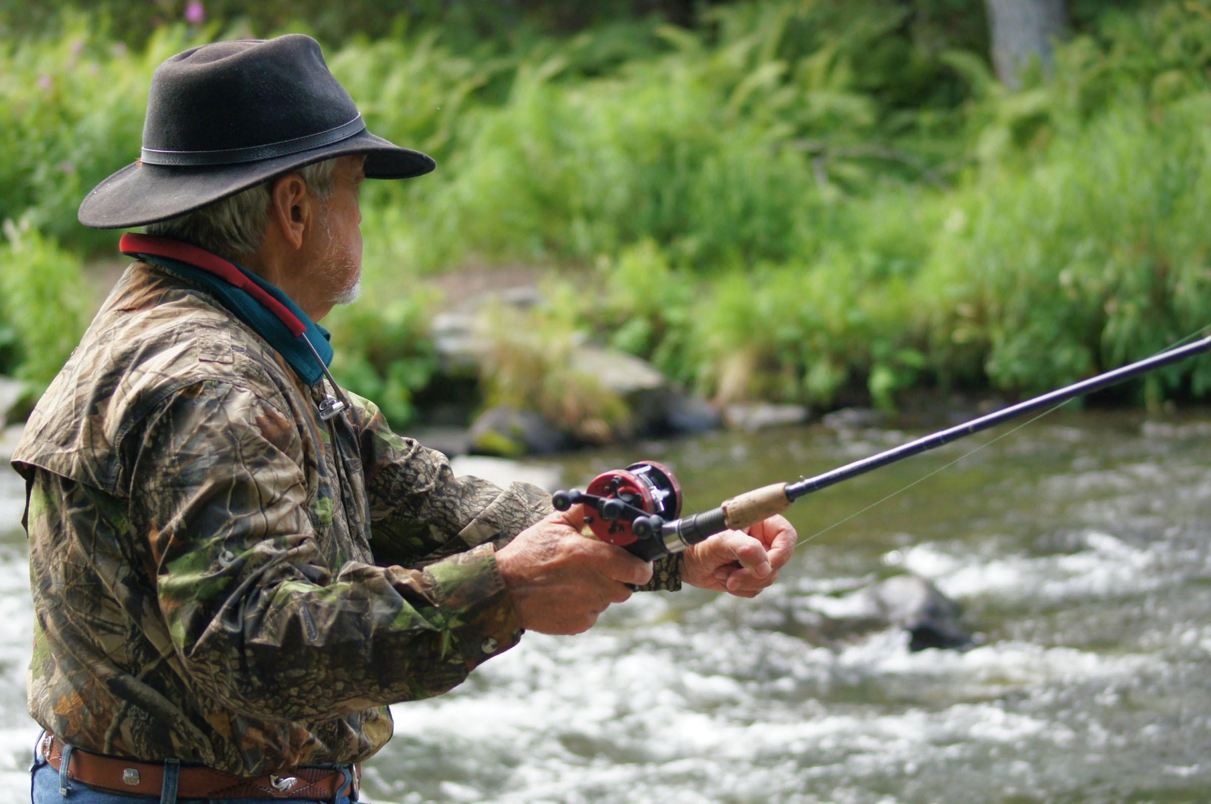 River fishing in Alaska