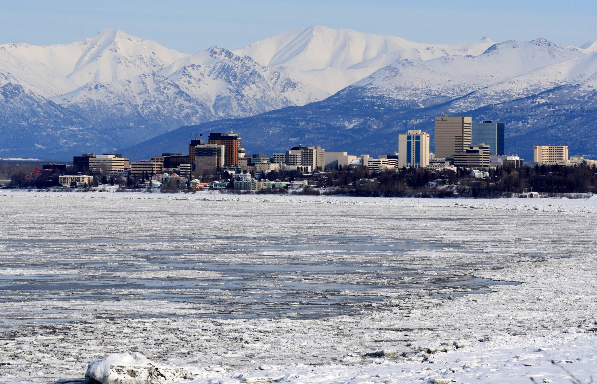 Anchorage skyline in Alaska