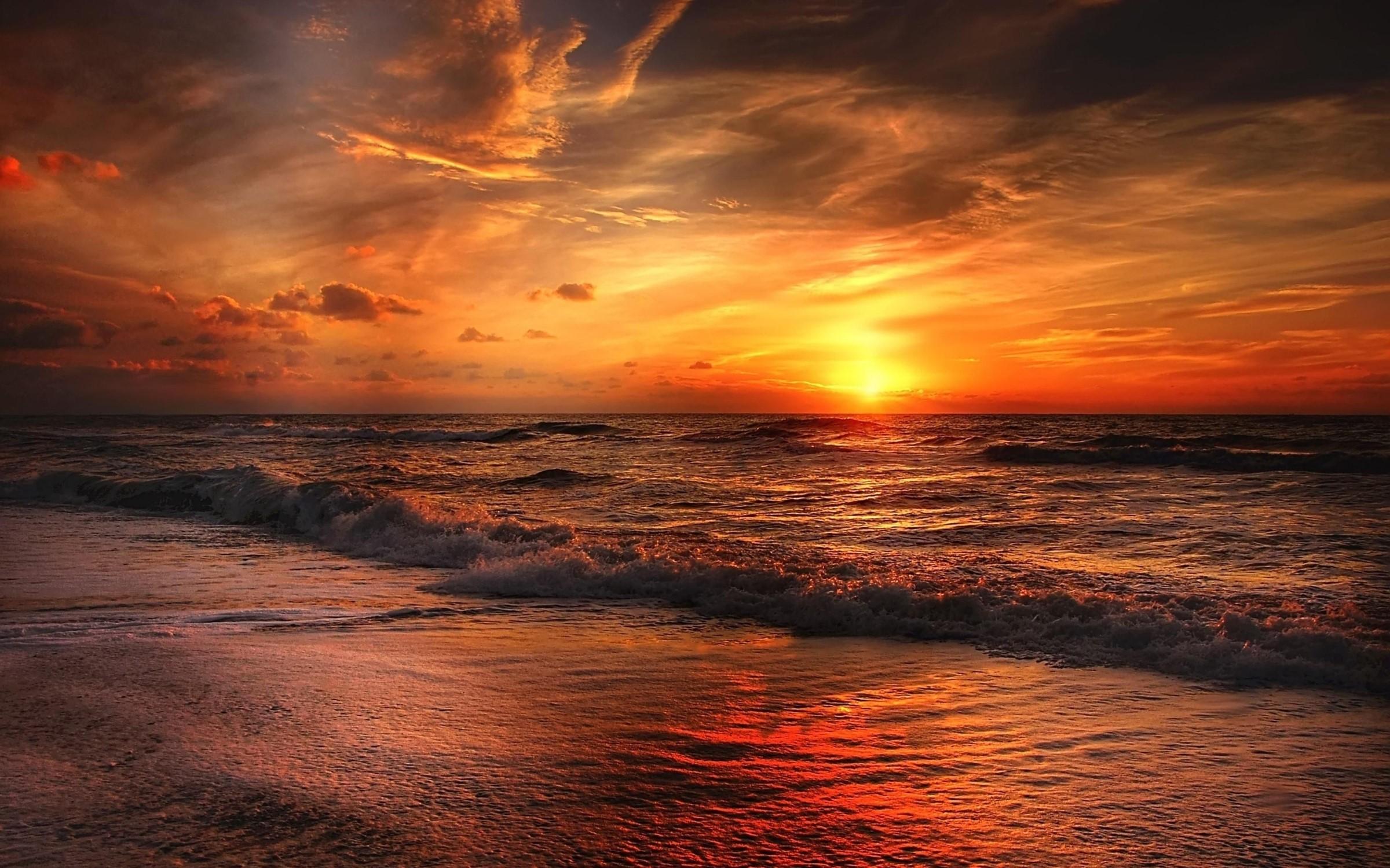 North Sea sunset
