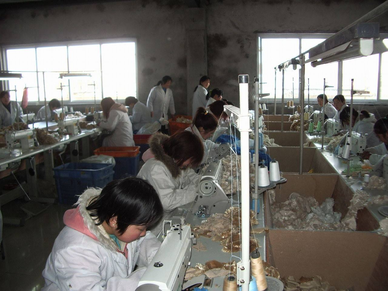 Workers factory machinists