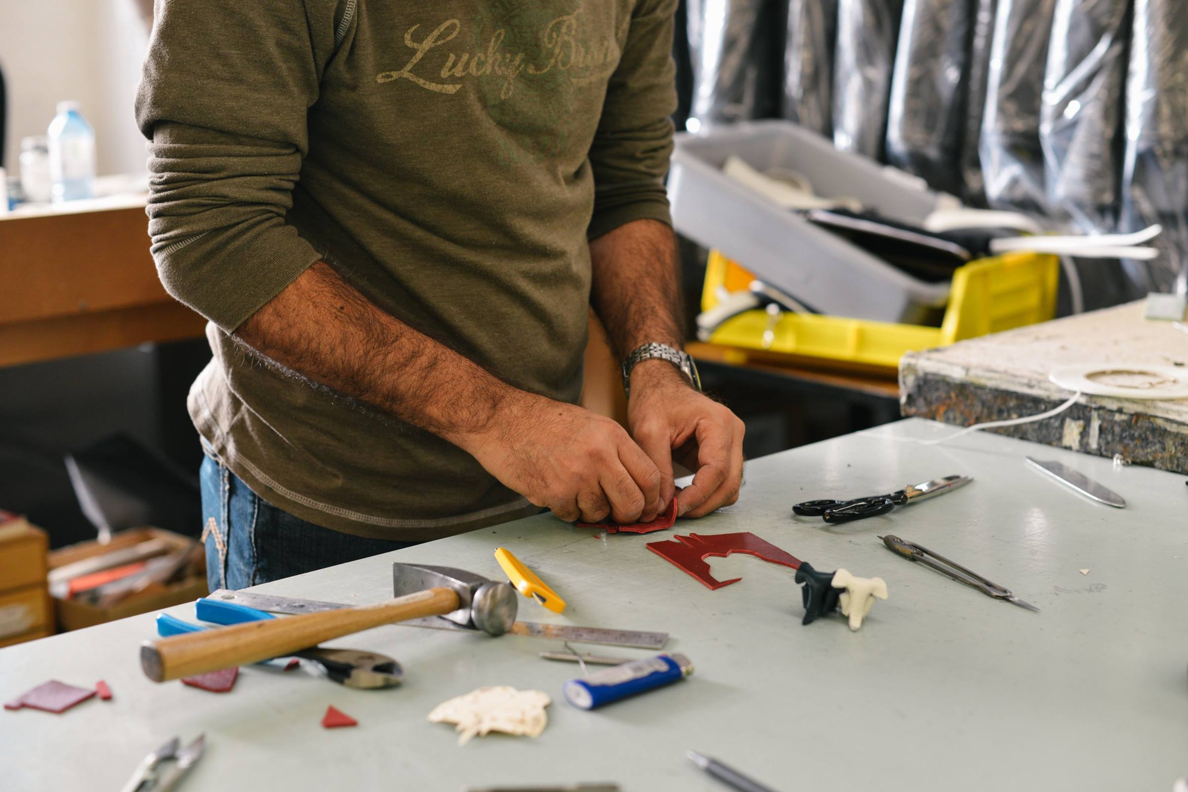 Worker tools workshop garage