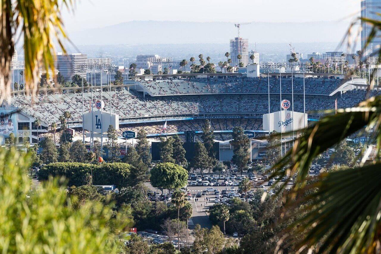 los angeles california baseball dodgers stadium