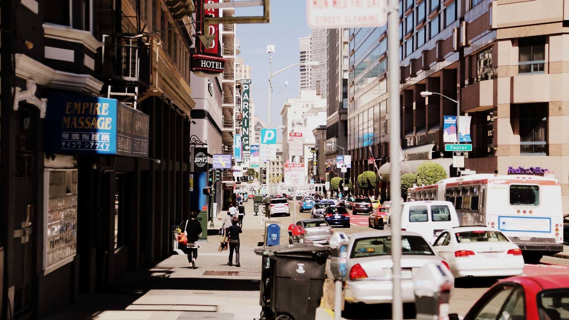 los angeles california city street