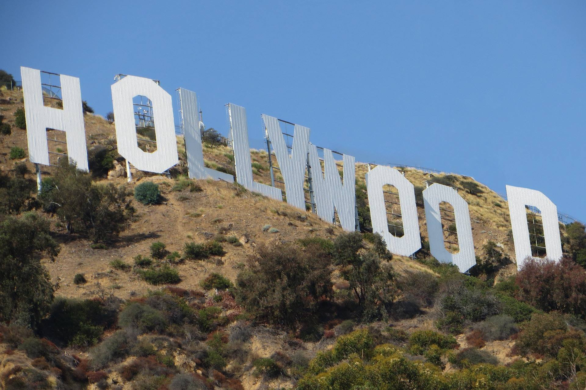 los angeles california hollywood sign close up