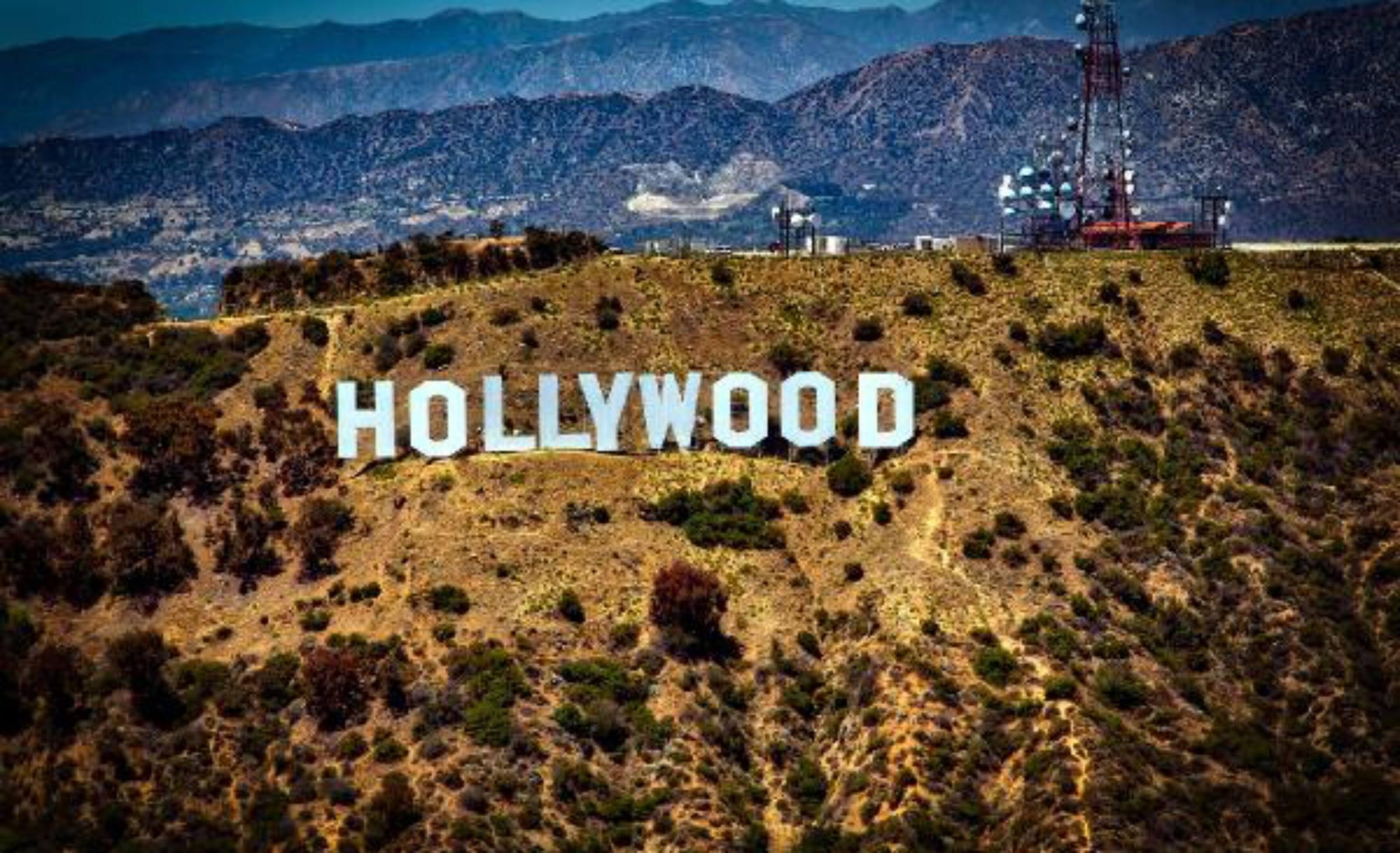 los angeles california hollywood sign hills