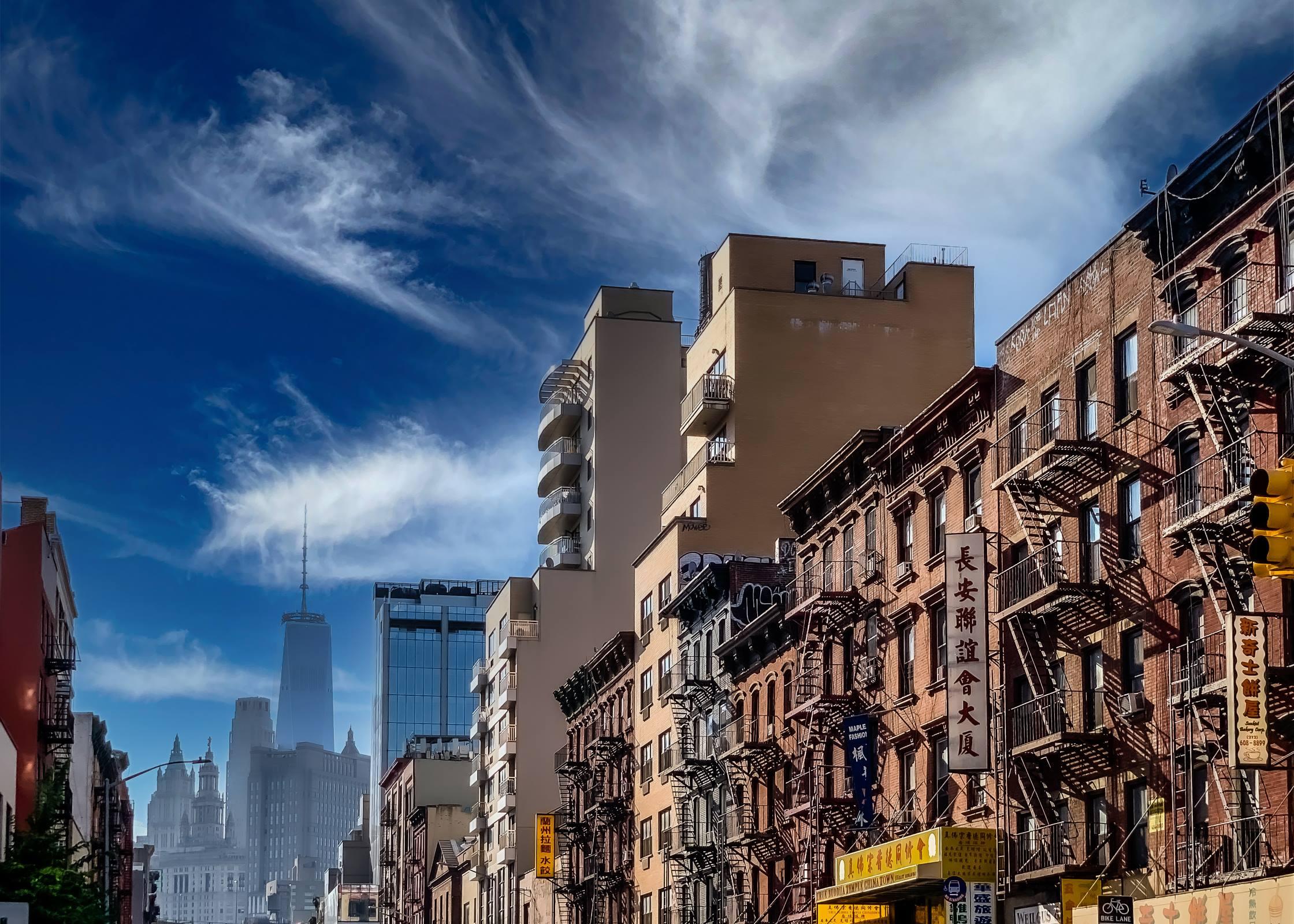 new york china town city cityscape