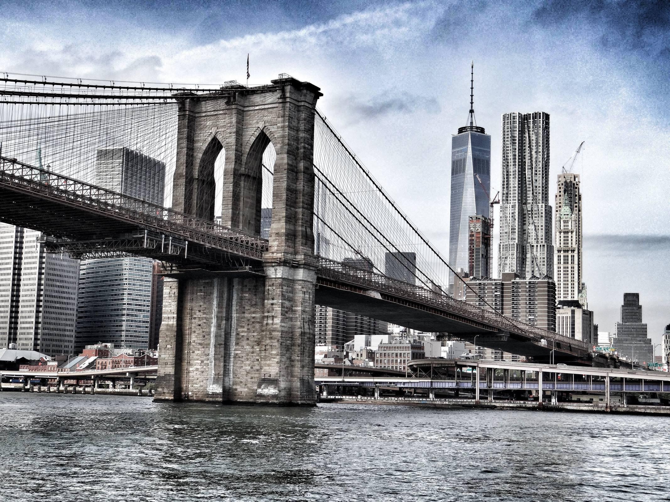 new york city brooklyn bridge river