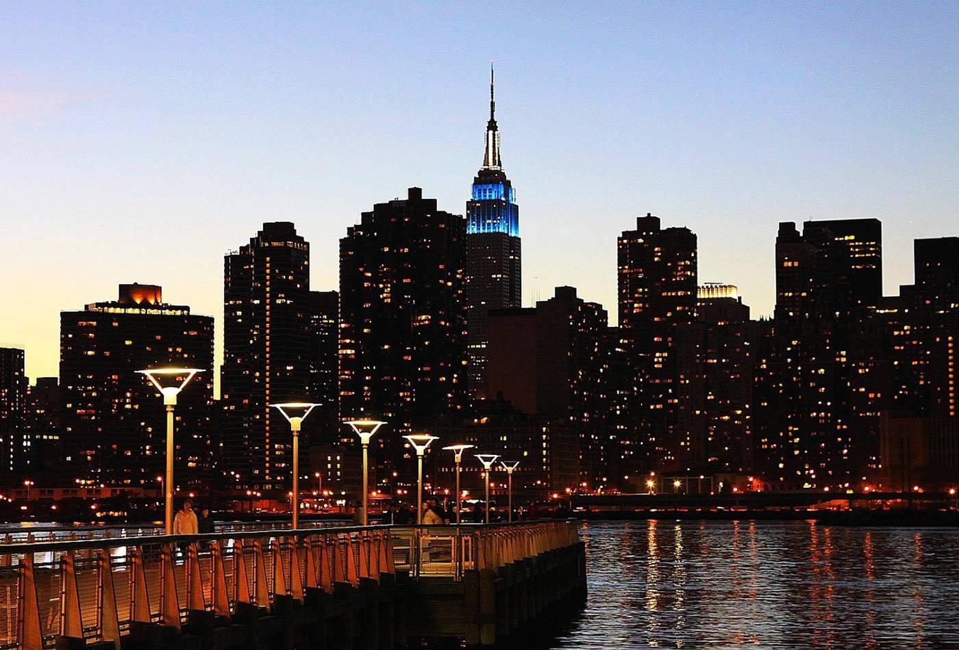 new york city river bridge skyline