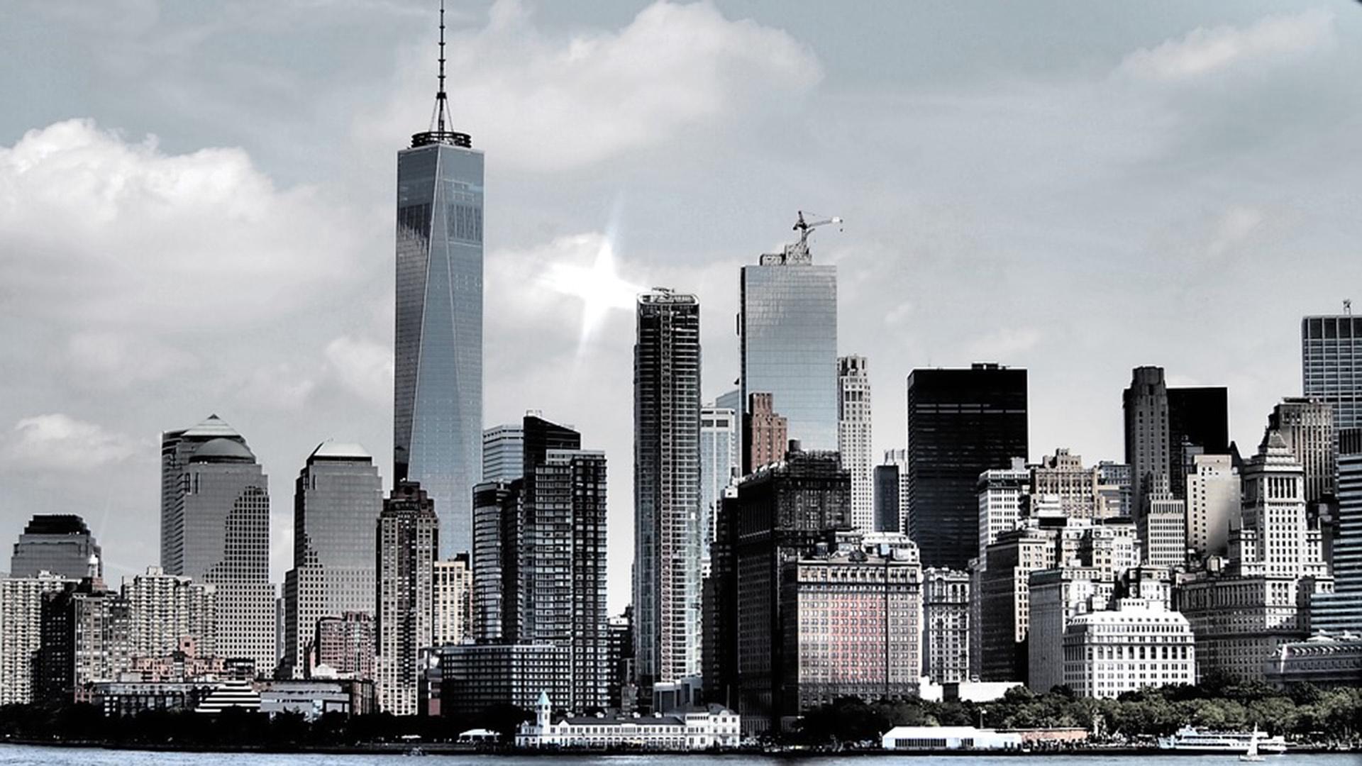 new york city skyscrapers cityscape skyline