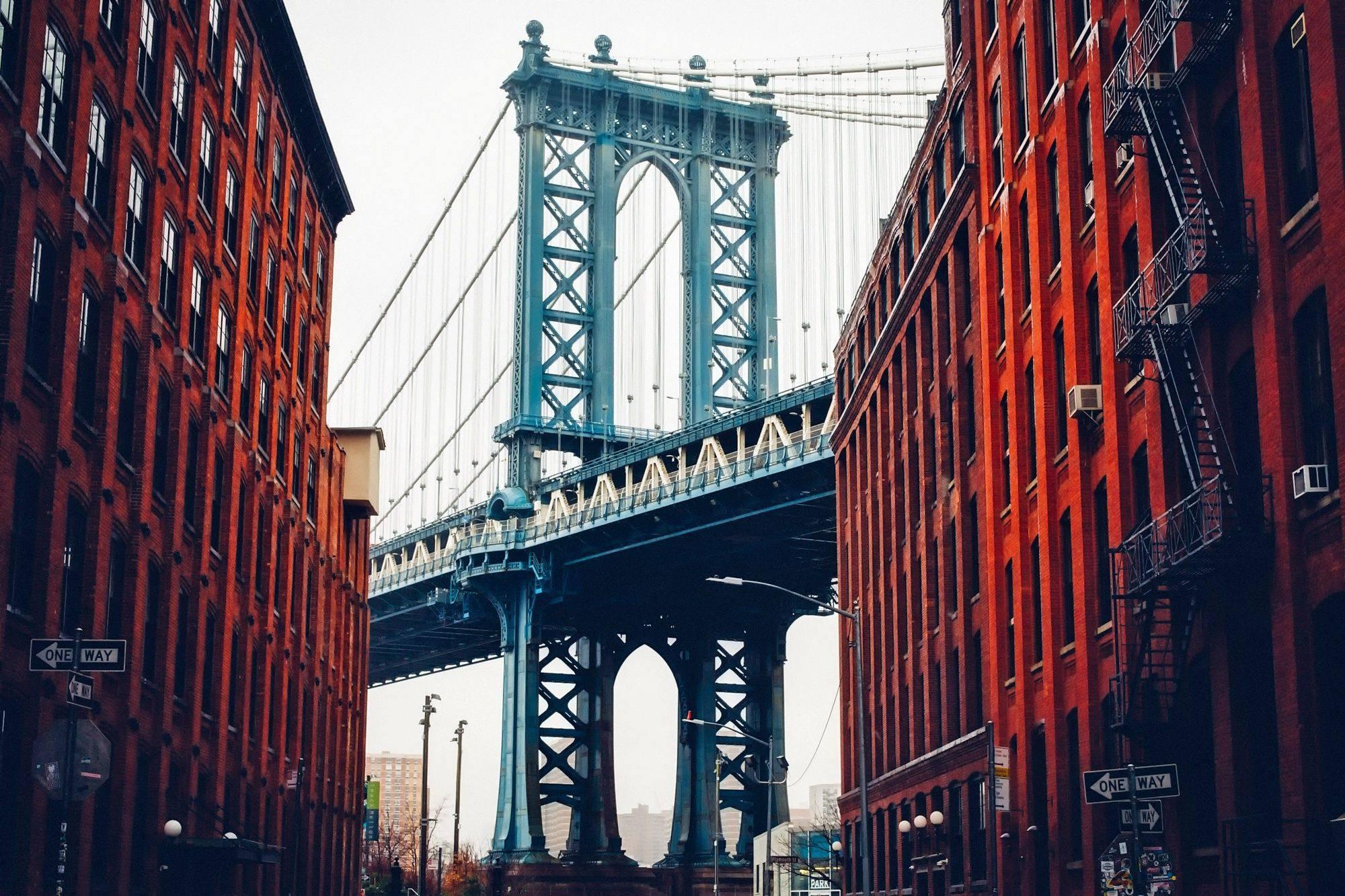 new york city street george washington bridge