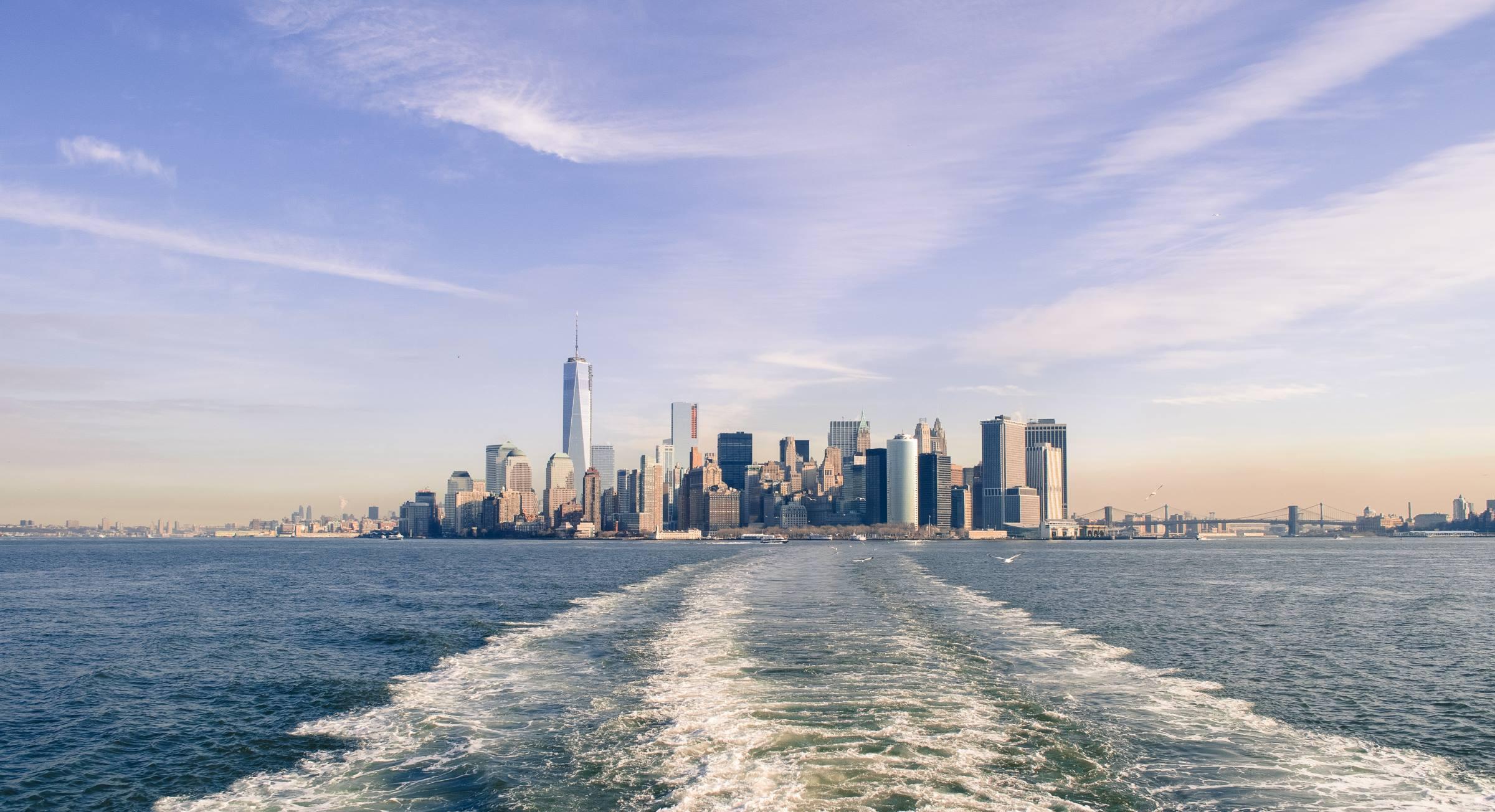 new york city water skyline