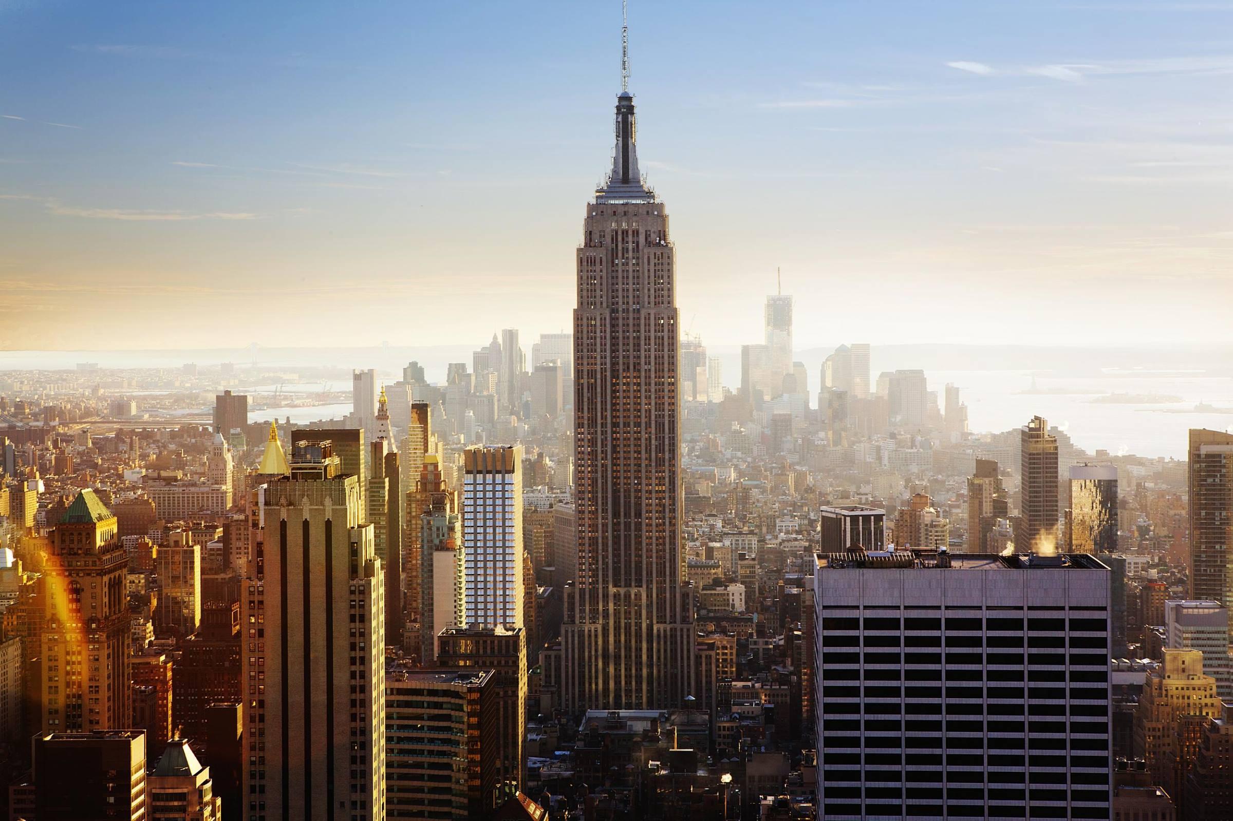 new york empire state building cityscape