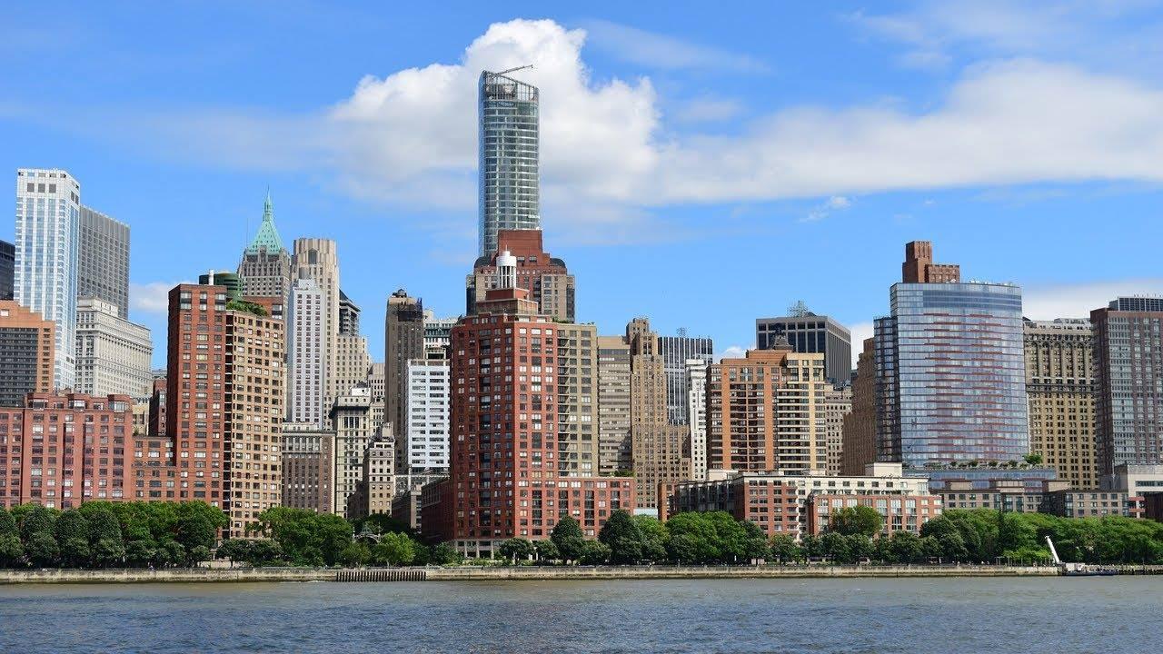 new york manhattan city skyline river