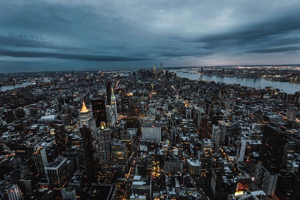 new york night city skyline cityscape