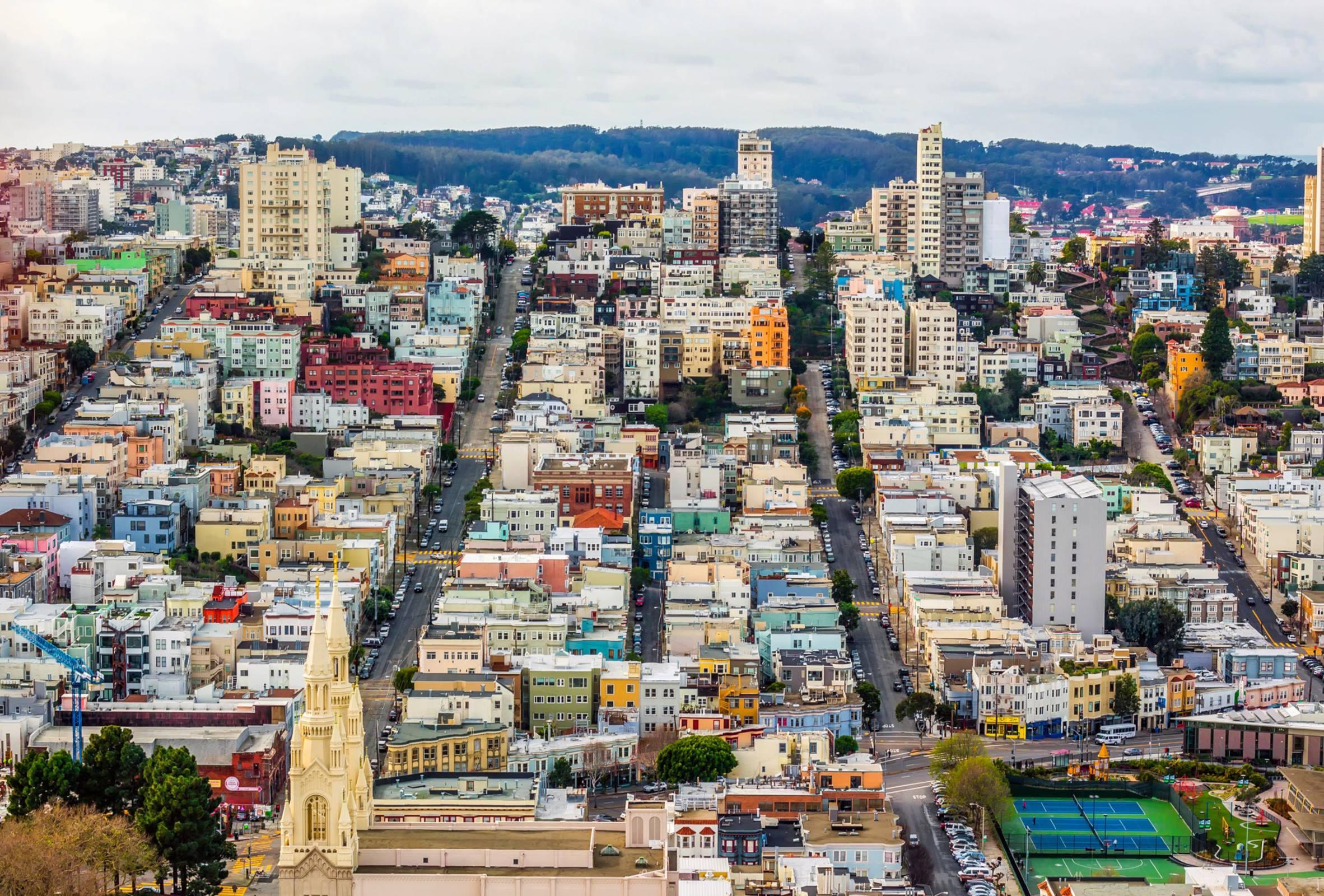 san francisco california city cityscape