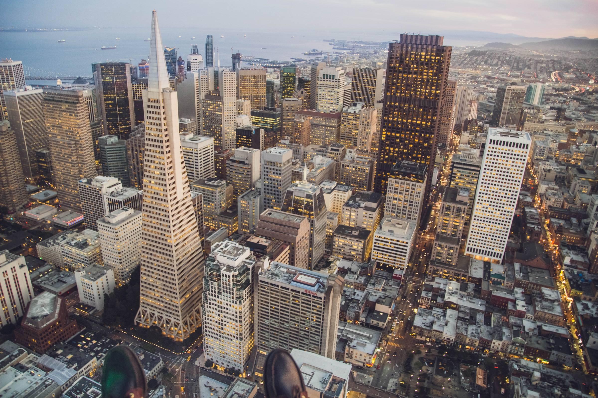 san francisco california cityscape downtown