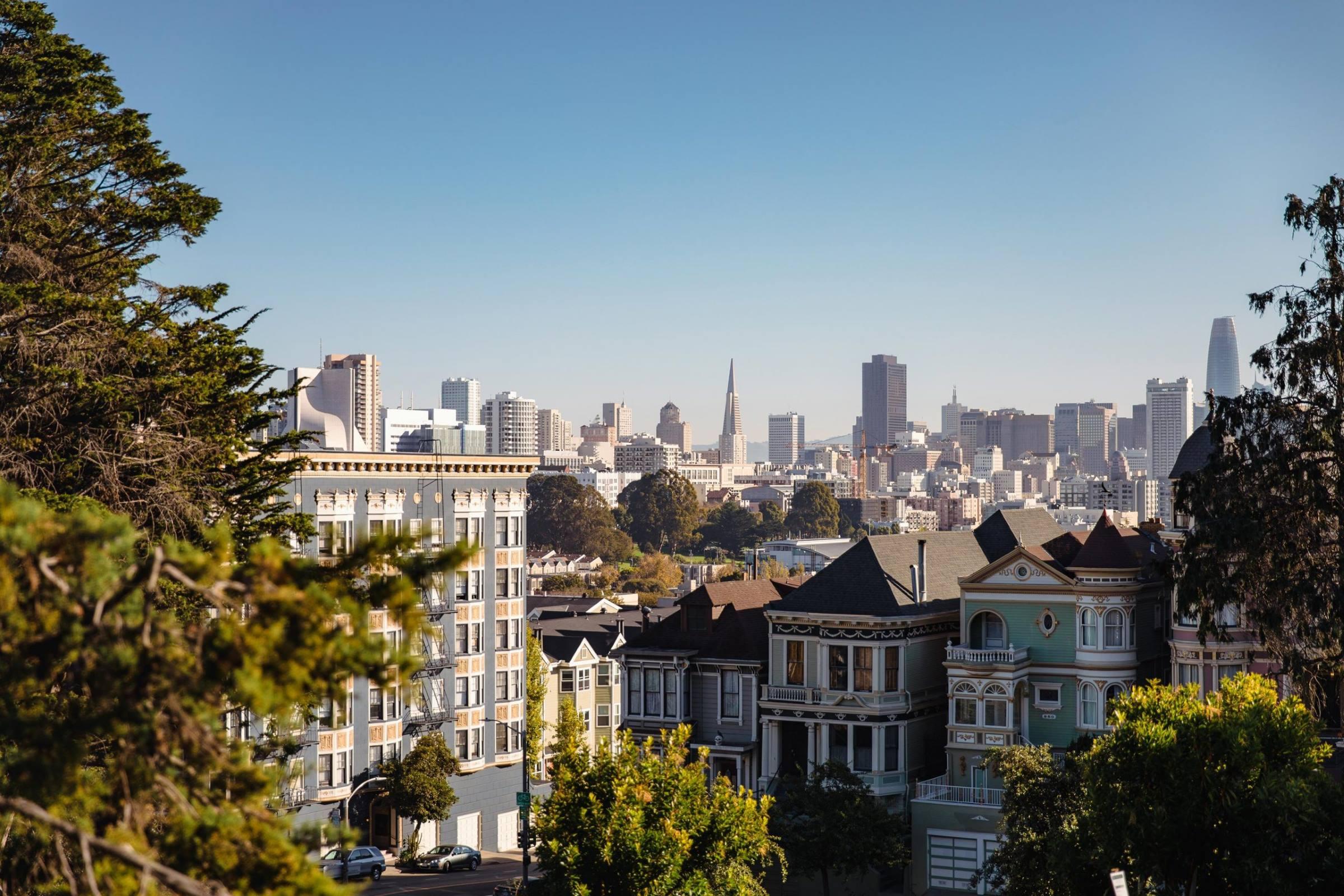 san francisco california cityscape skyline
