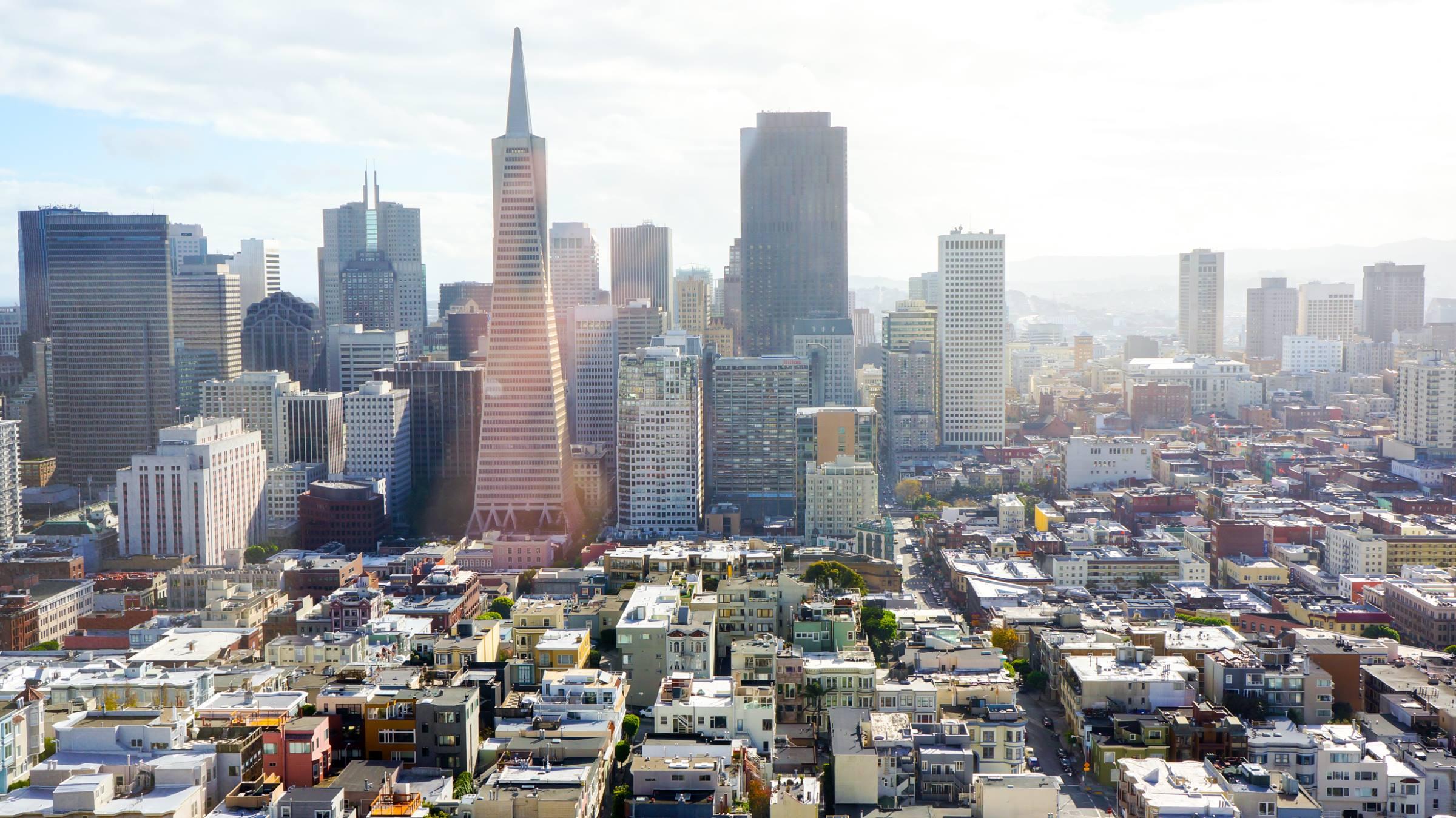 san francisco california cityscape transamerica pyramid