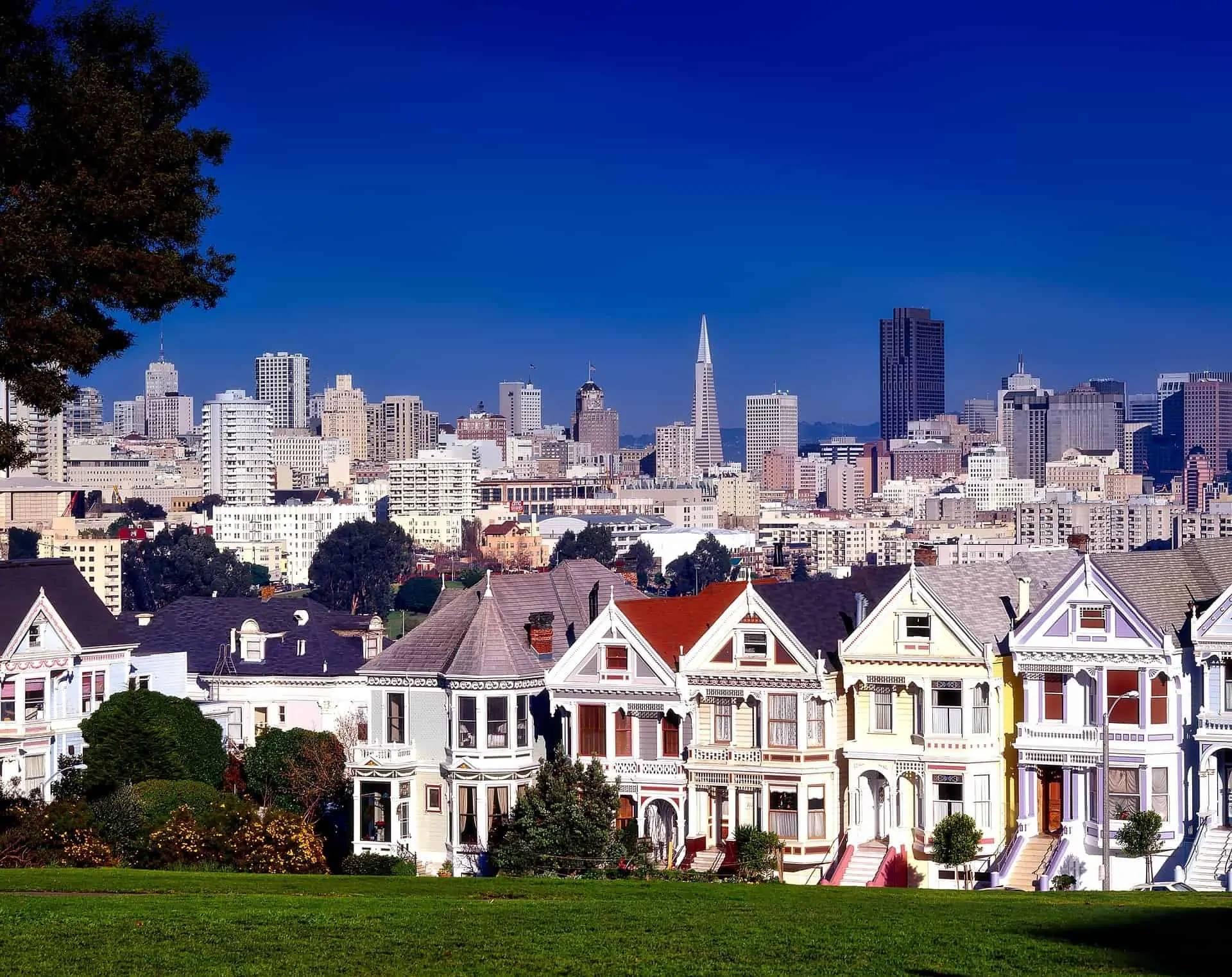 san francisco california houses park skyline