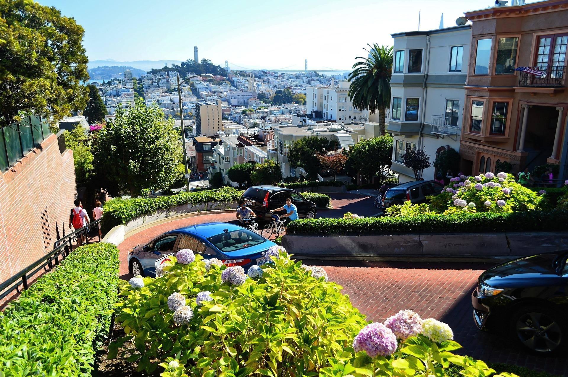 san francisco california lombard street city