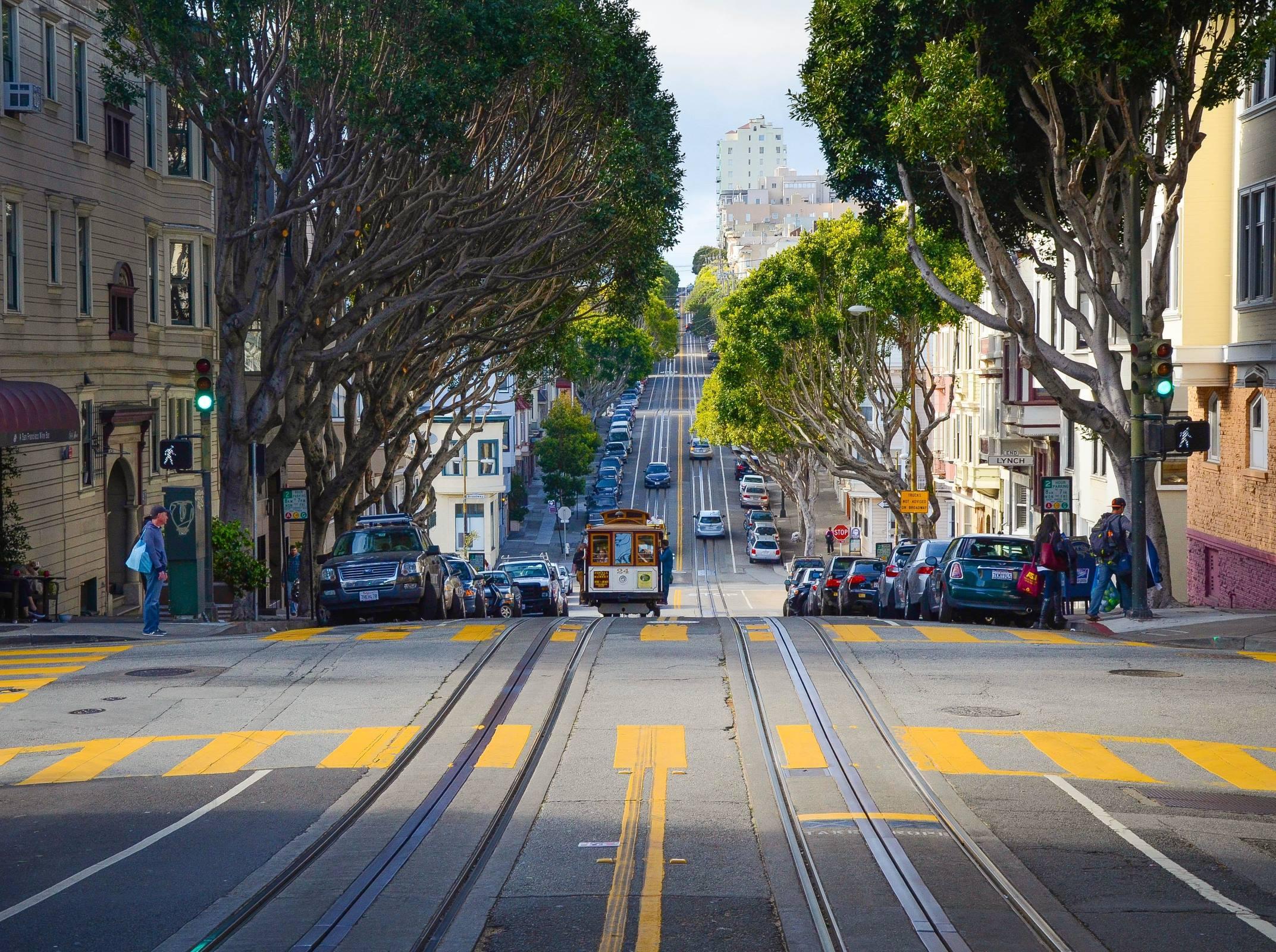 san francisco california street cable car