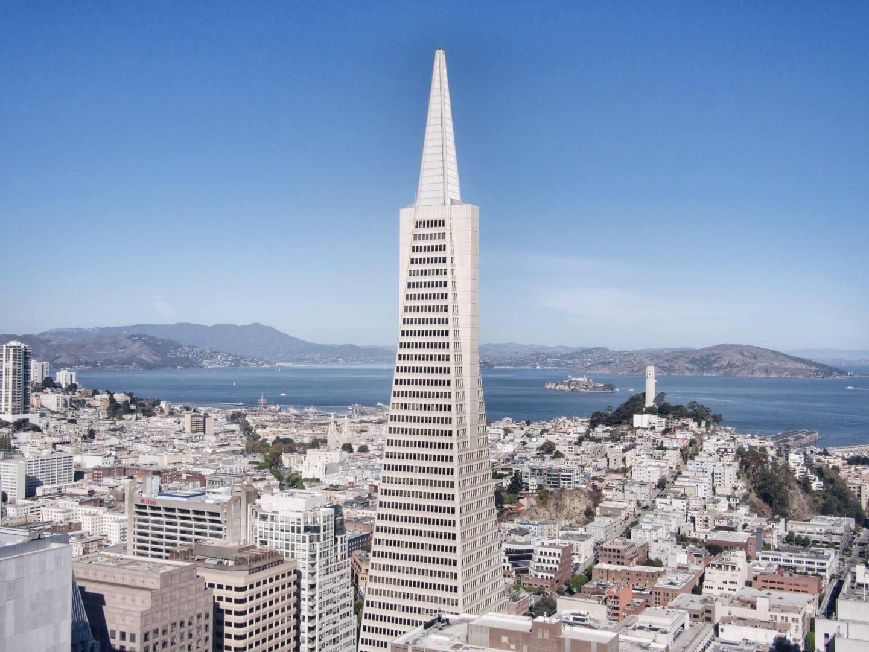 san francisco california transamerica pyramid alcatraz