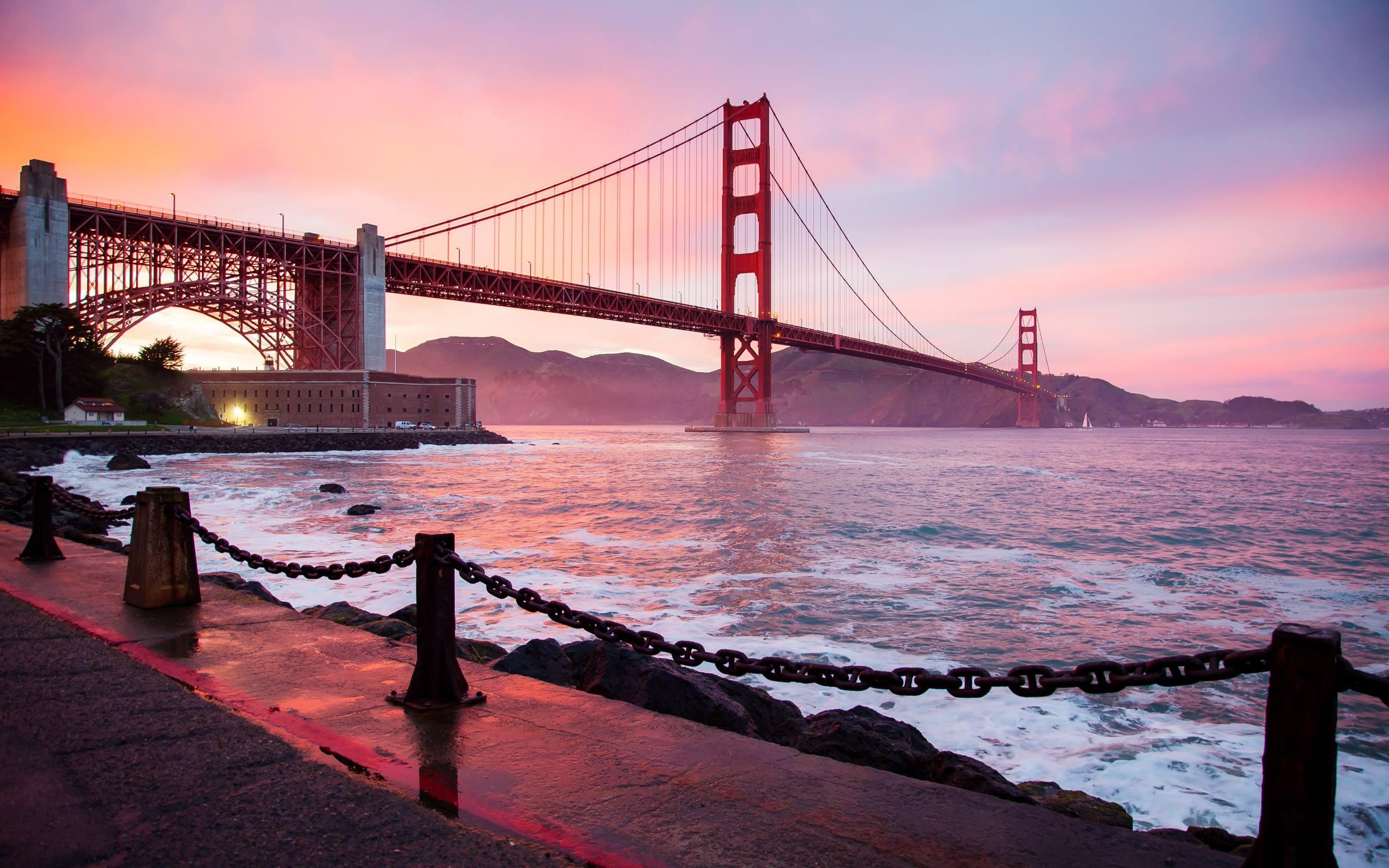 san francisco california water golden gate bridge