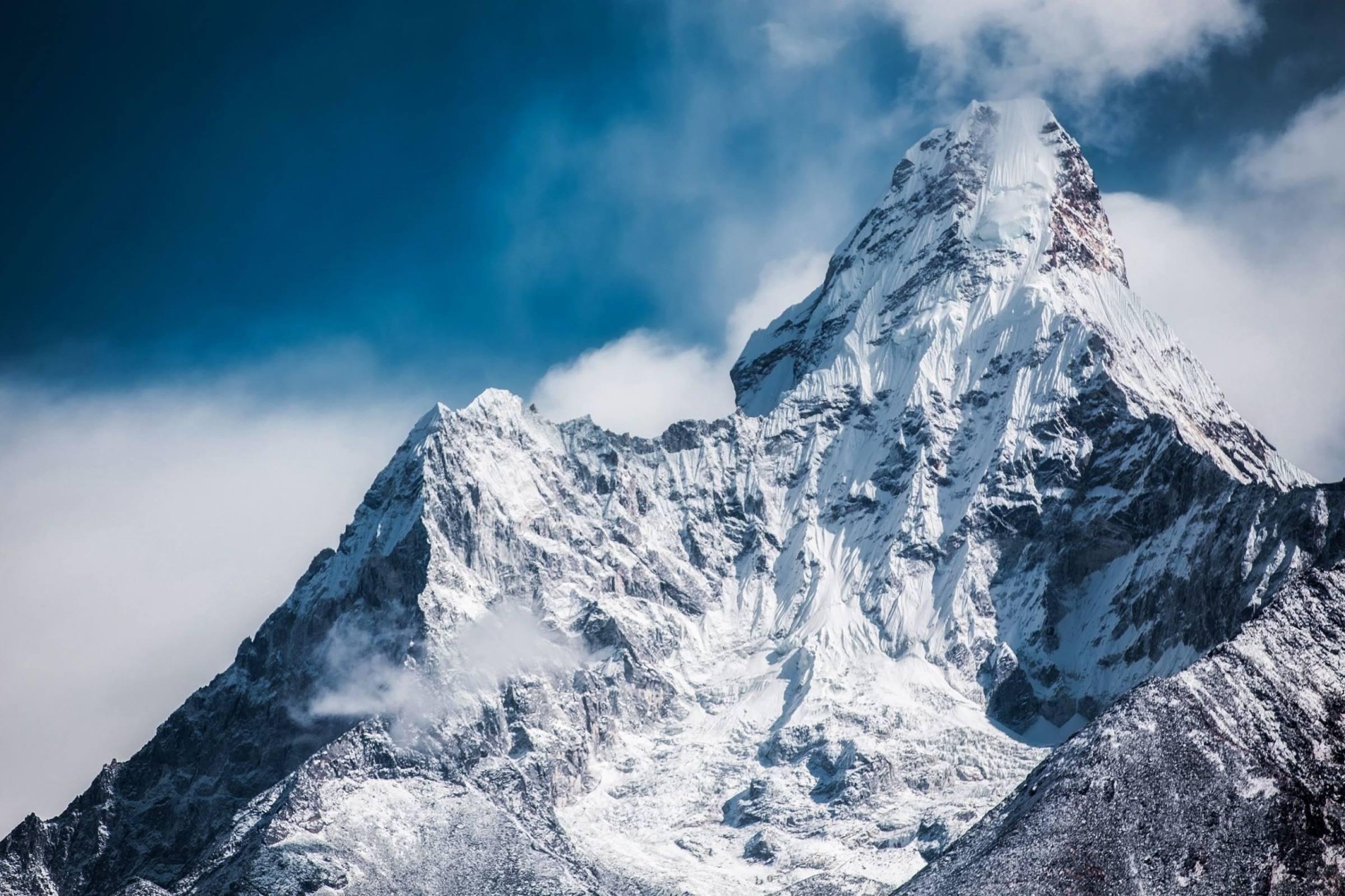 winter mountain ama dablam himalayas nepal