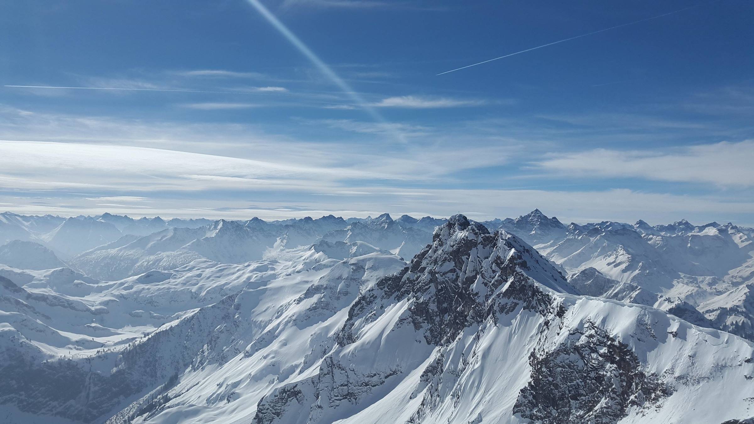 winter rough horn alps mountain snow