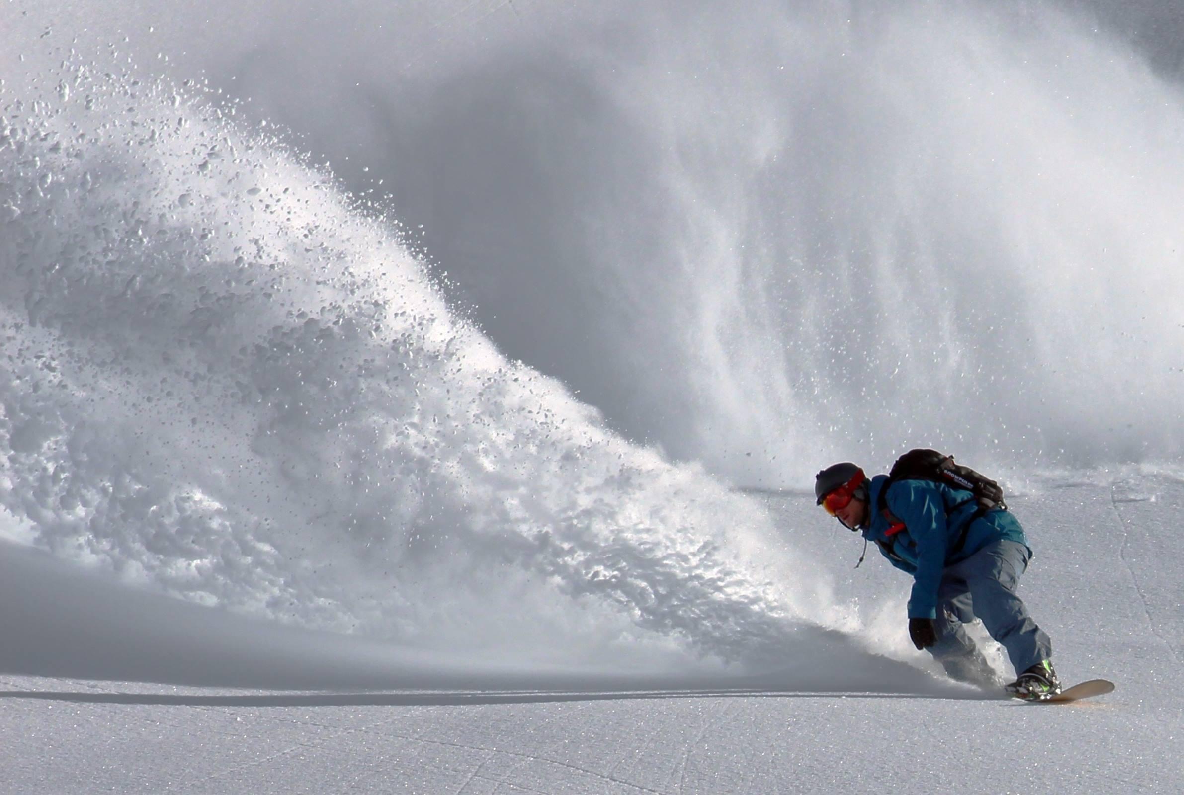 winter snow snowboarding man ski slope