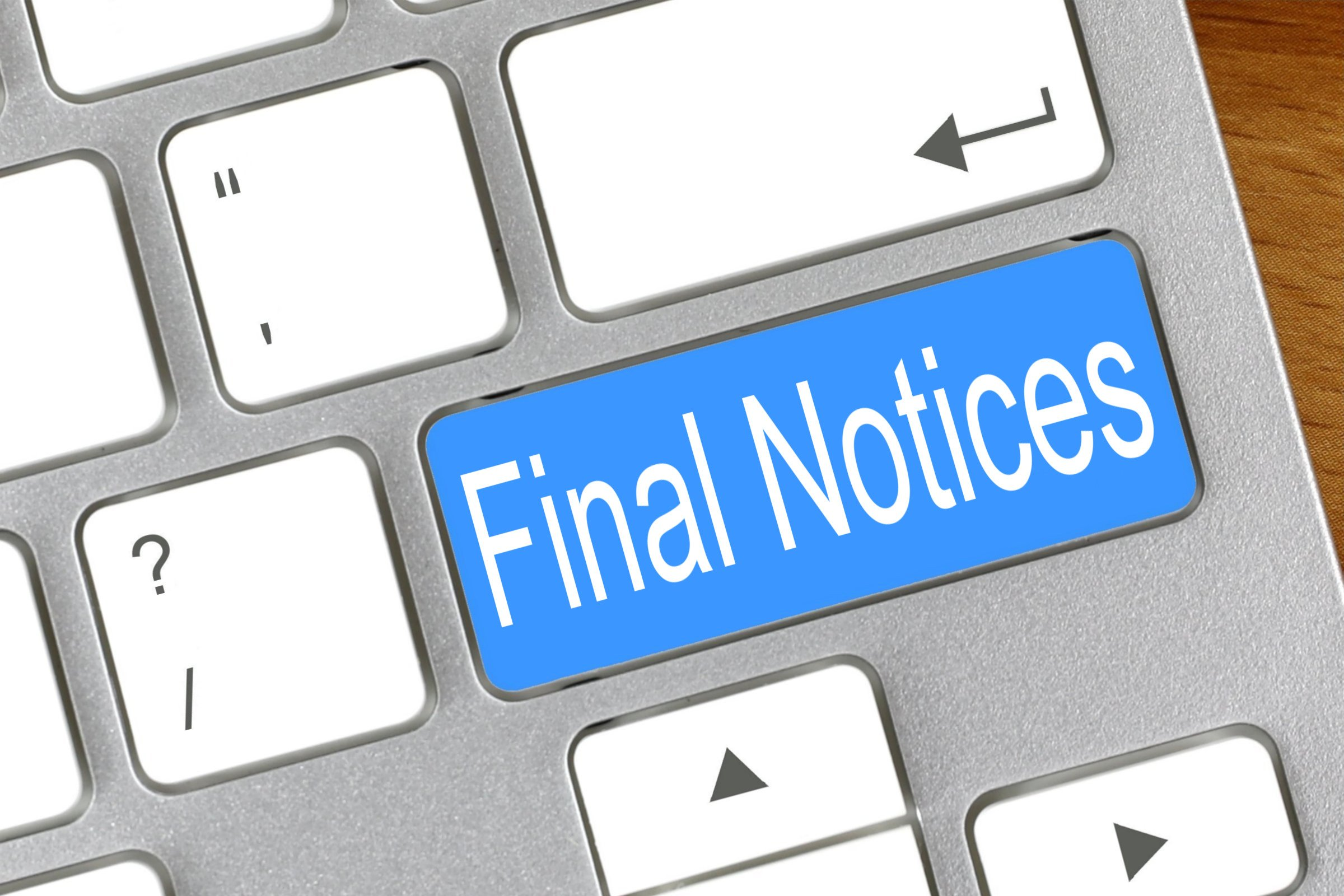 Final Notices