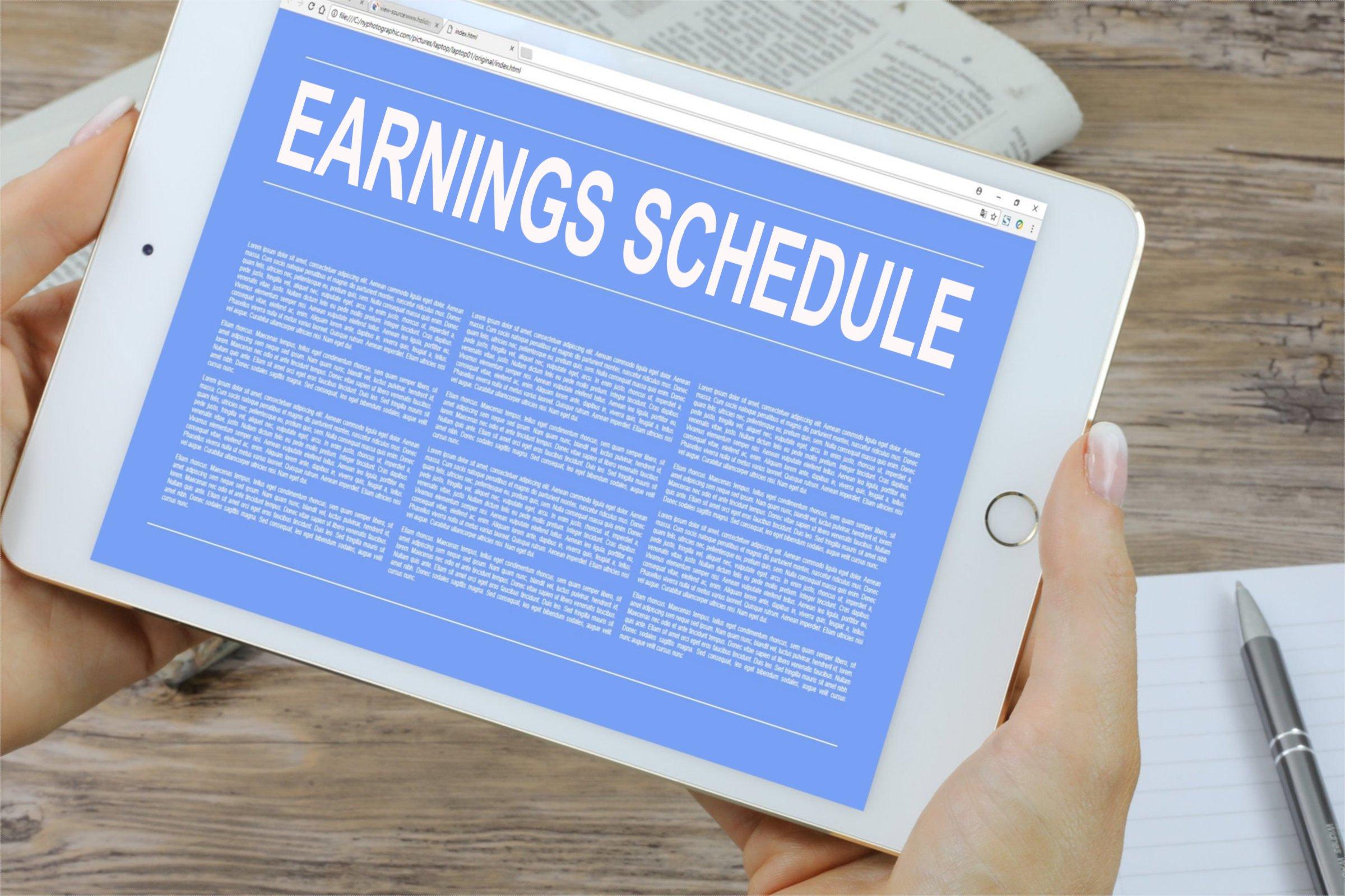 Earnings Schedule