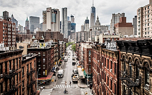 new york manhattan skyline city streets