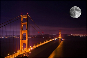 san francisco california night golden gate bridge
