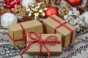 Christmas presents and decorations