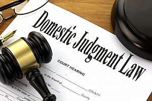 domestic judgment law