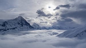 winter alps mountains landscape clouds