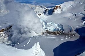 Fumarole at Mount Redoubt Alaska