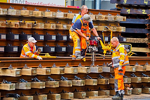 Railtrack construction workers