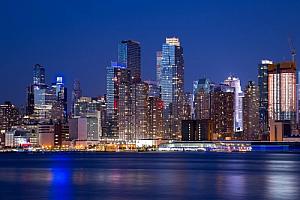new york city manhattan river night lights