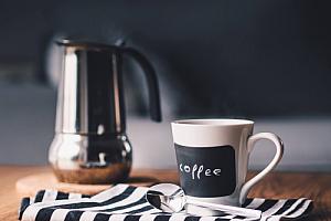Coffee mug and pot