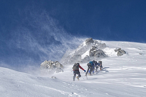 winter snow climbers mountaineers mountain