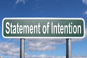statement of intention