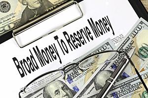 broad money to reserve money