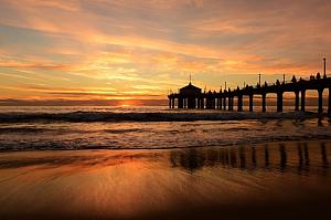 Beach with pier