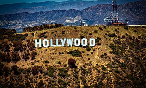 los angeles california hollywood sign hills
