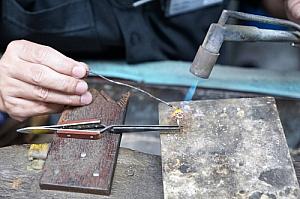 Worker handmade soldering