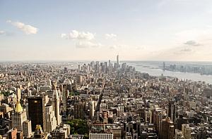 new york city aerial cityscape