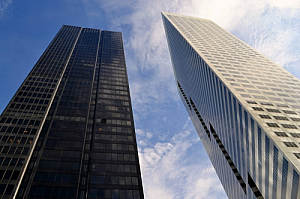 Two high rise office buildings