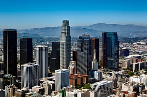 los angeles california cityscape downtown offices